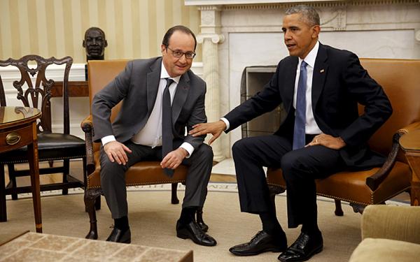 Obama-Hollande Gelar Konferensi Pers