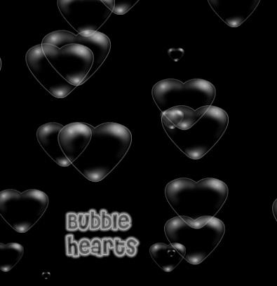 pinceles photoshop burbujas corazones