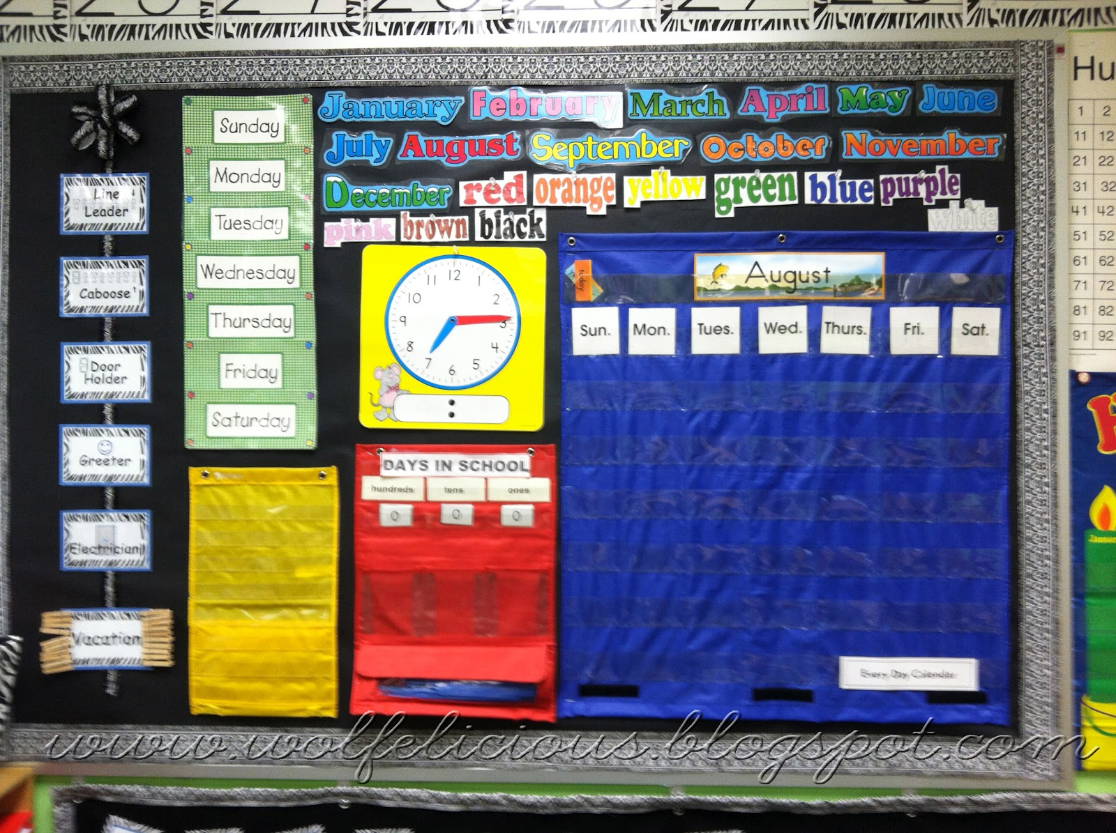 Classroom Calendar Bulletin Board Ideas : Wolfelicious monday made it classroom