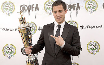 Hazard Meraih Penghargaan PFA Player of The Year 2014-2015