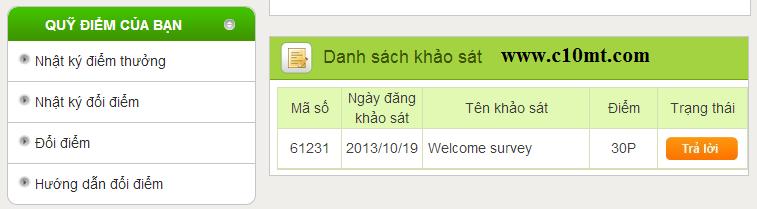 Danh sach khao sat cau hoi InfoQ VN
