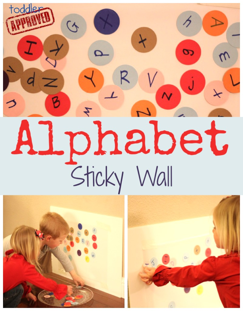 Toddler Approved!: Alphabet Sticky Wall