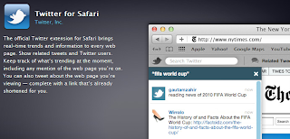 Twitter for safari