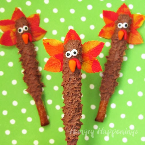 http://hungryhappenings.com/2013/11/Thanksgiving-Treats-Turkey-Pretzel-Pops.html/