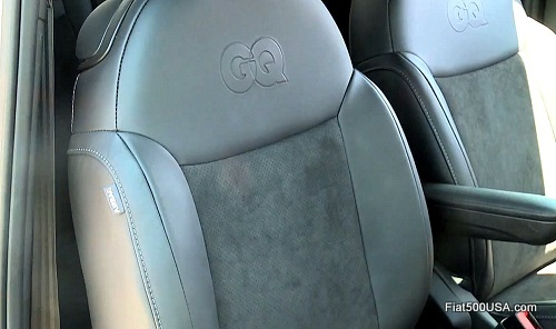 Fiat 500c GQ Edition seat back