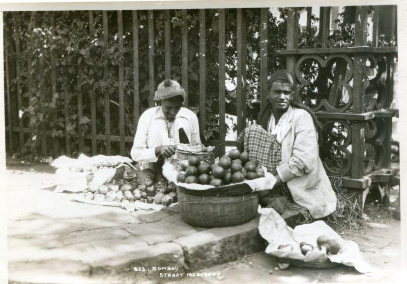 Selling Fruits in a Bombay (Mumbai) Street