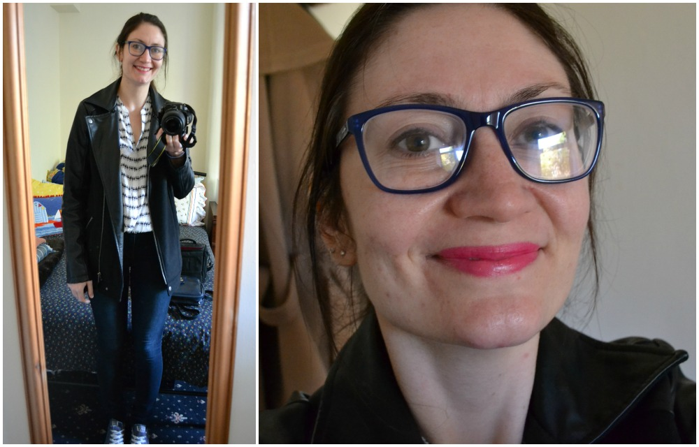 outfit weekend charity shop m&S blouse long tall sally jacket jeans glasses
