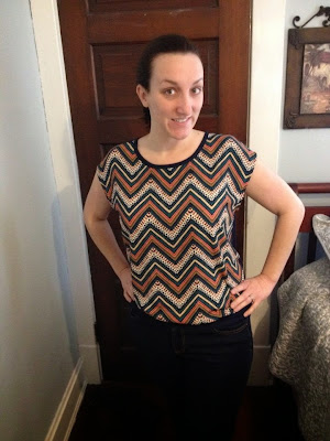 (Pomelo) Priya Graphic Chevron Print - From StitchFix