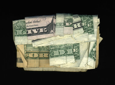 money art, folded money, live free or die