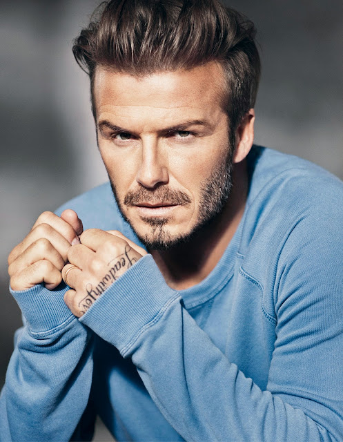 blue sweatshirt by modern essentials selected by david beckham at H&M