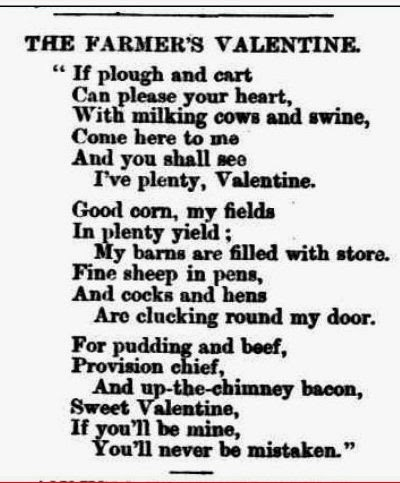 The Farmer's Valentine, South Australian Weekly Chronicle,19.5.1866