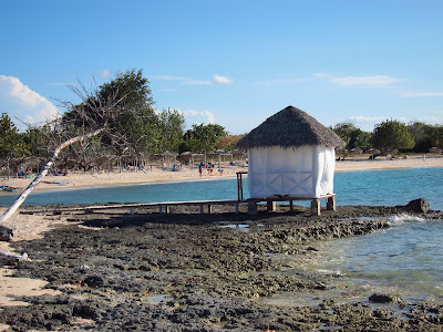 Playa Pesquero massage hut at water's edge