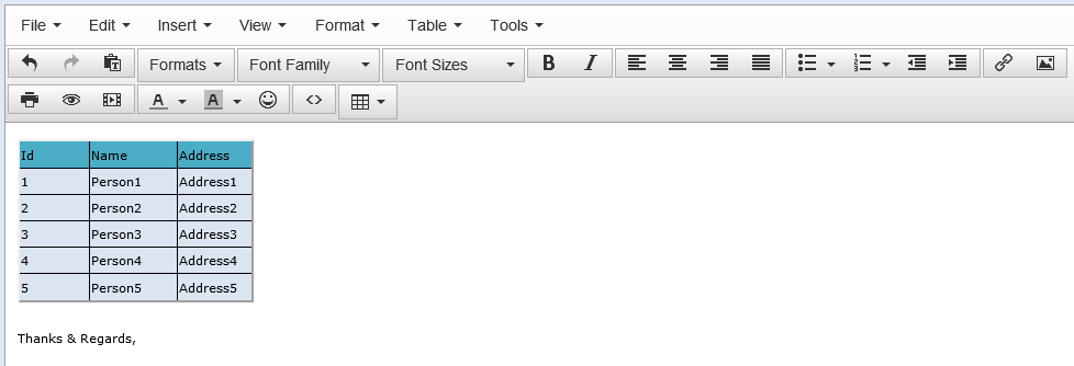 paste excel data into tinymce with formatting non stop ext