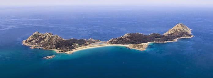 Las Islas Cies cerca de Galicia