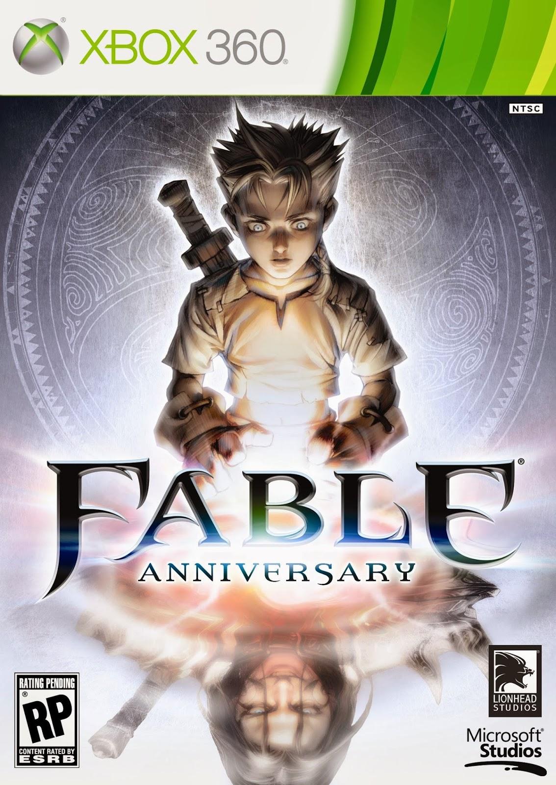 jaquette Xbox360 de fable Anniversary