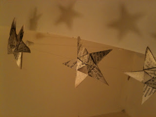 Five Point Origami Star Garland