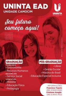 UNINTA EAD - UNIDADE CAMOCIM, SEU FUTURO ESTÁ AQUI
