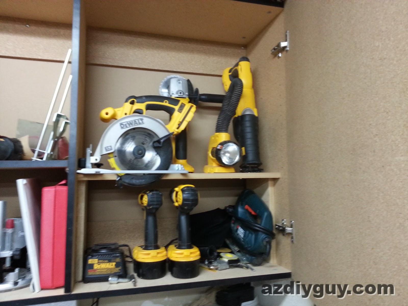 AZ DIY Guy's Projects: Power Tool Storage