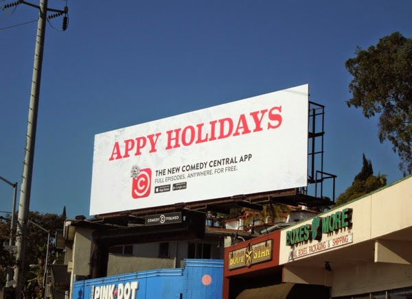 Appy Holidays Comedy Central billboard