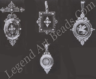 Various brooches and pendants designed by Alphonse Fouquet in 1866, consisting of engraved gems, cameos and enamel.