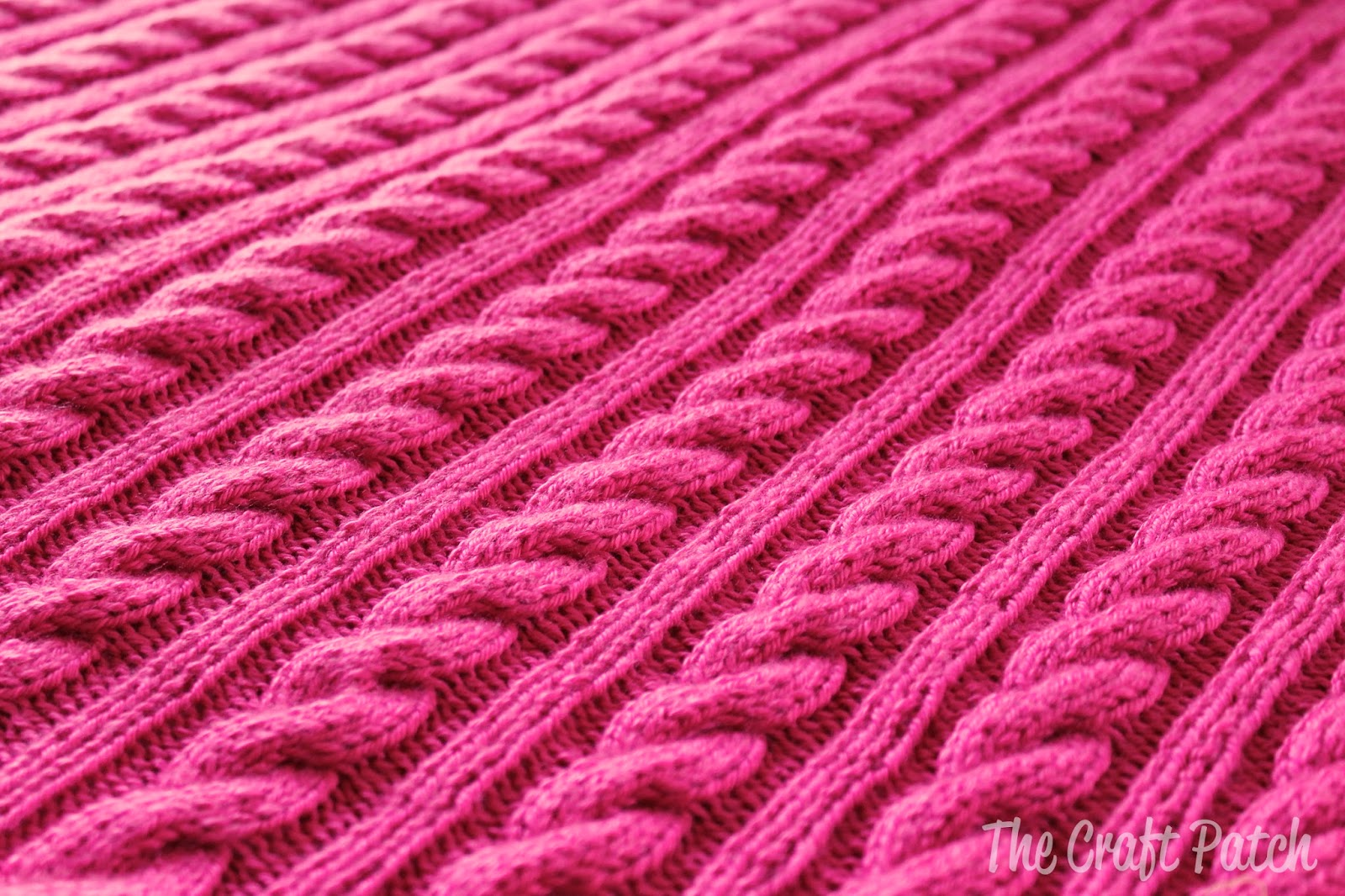 The Craft Patch: Cable Knit Baby Blanket