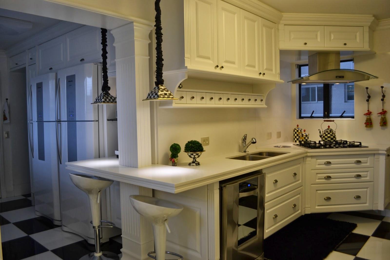 Cozinhas Retro Moderna Cozinha Moderna Com Branco E Metalizado