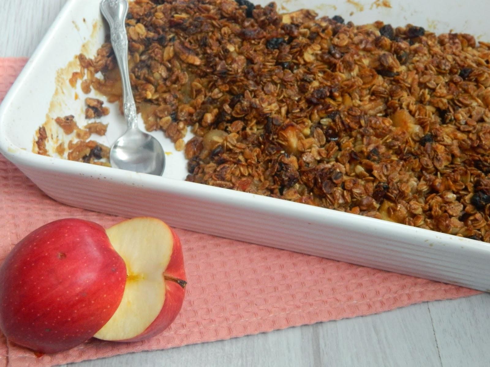 Prajitura de post cu mere si musli