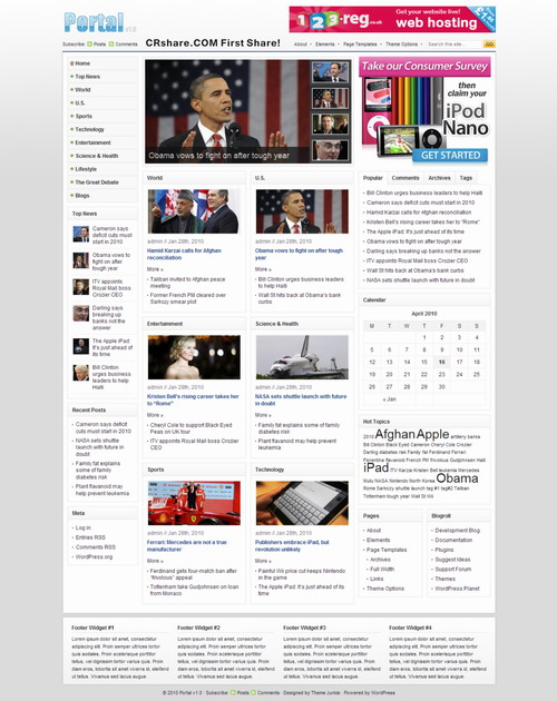 News Portal 1.0 theme by ThemeJunkie