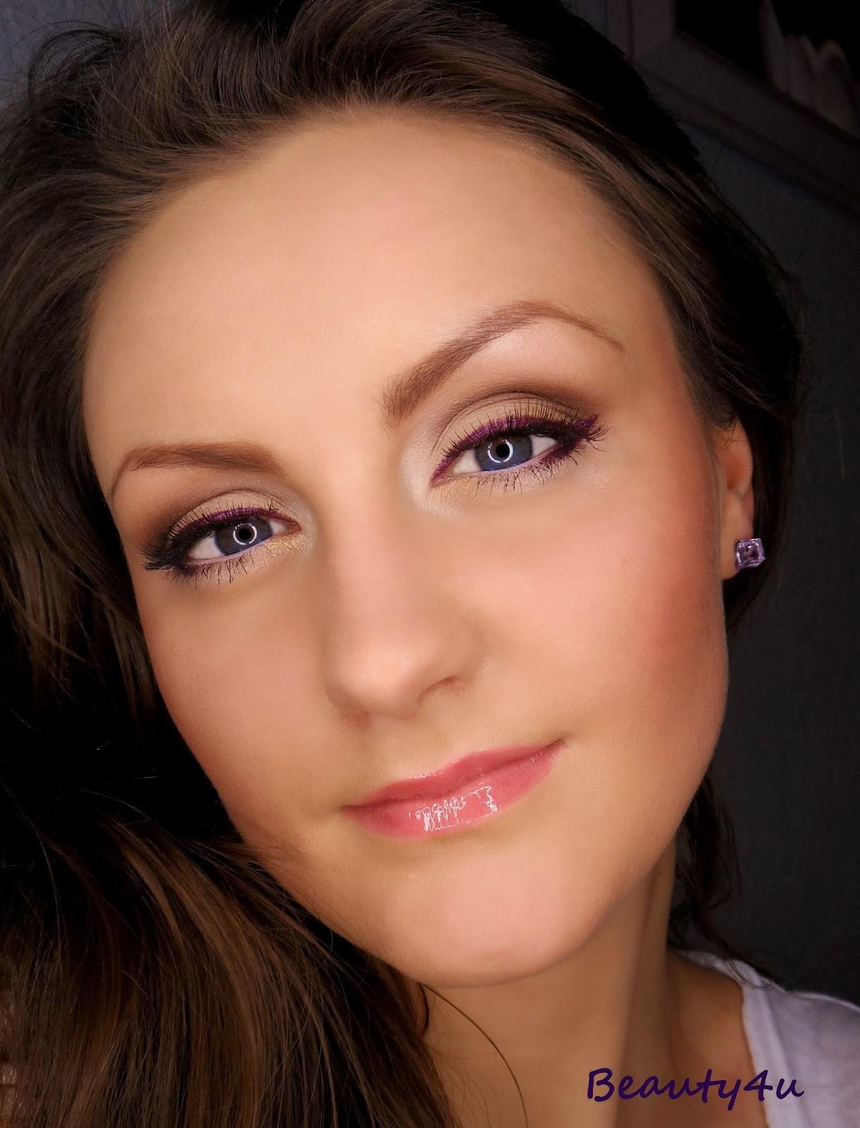 Violet line - makeup