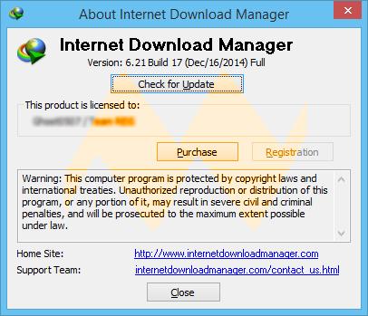 Internet Download Manager 6.21 Build 17