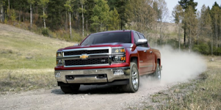 2014 Chevrolet Silverado red dirt road