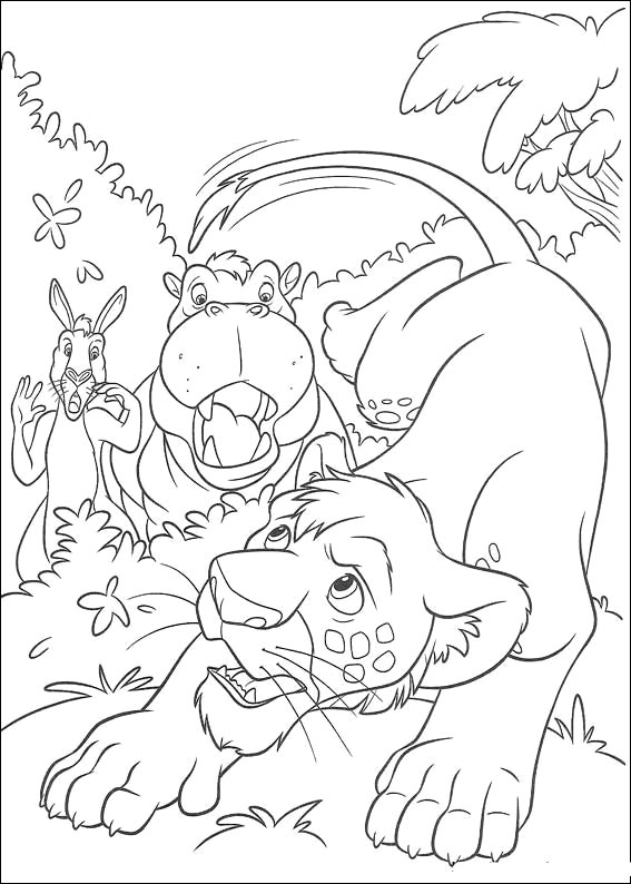 the wild coloring pages - photo#19