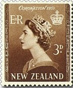 60th Wedding Anniversary Gifts New Zealand : Westminster Abbey8d Crown and Royal Sceptre1s 6d Queen Elizabeth ...