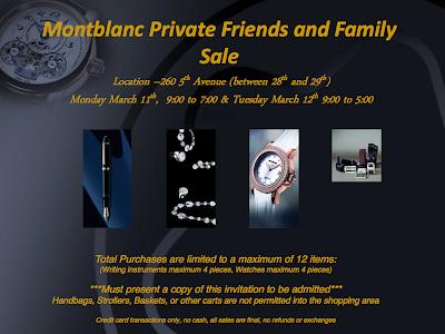 Montblanc Sample Sale Returns