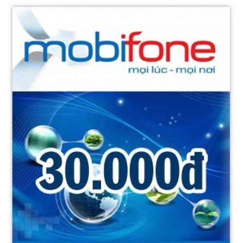 thẻ điện thoại mobifone