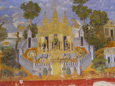 Ramayana mural, Silver Pagoda, Phnom Penh, Cambodia