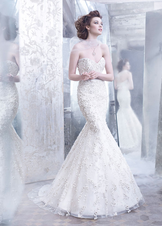 Lazaro fall 2012 bridal collection belle the magazine for How much is a lazaro wedding dress