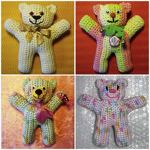 Blumenbunt: Gratis-Teddybär-Häkelanleitung