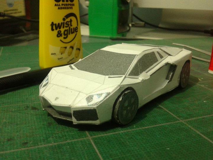 Papercraft And Papermodel Built Model Lamborghini Aventador