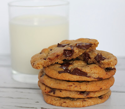 Speculoos, banana and chocolate chunk cookies