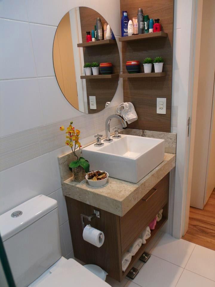 Construindo Minha Casa Clean Apartamento Decorado da Leitora Janaina Cassis! -> Banheiro Simples Mas Arrumado