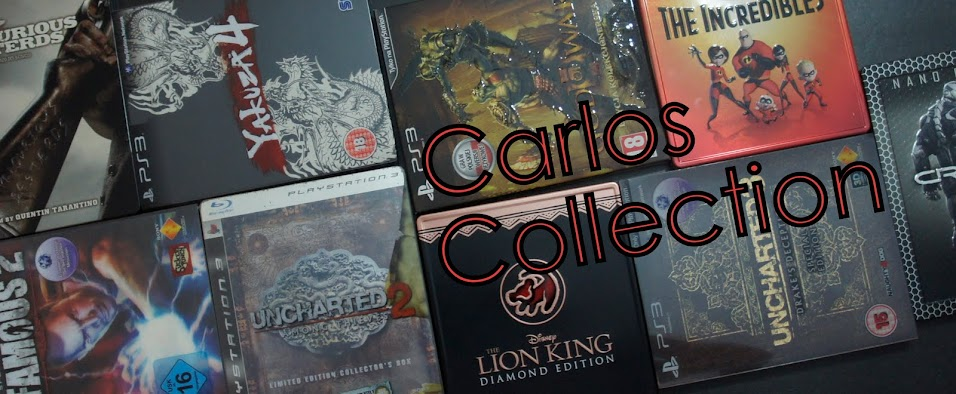 Carlos Collection: Blu ray, PS3 e Action Figures