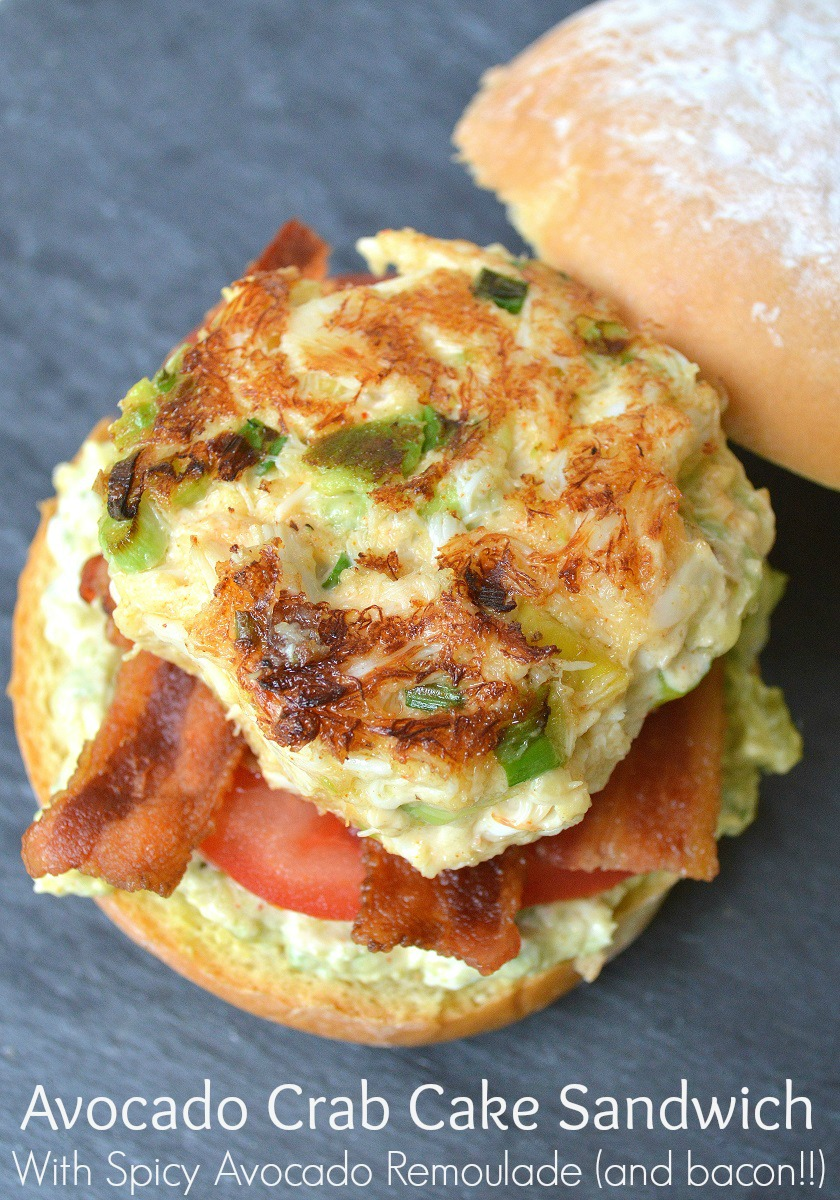 Avocado Crab Cake Sandwiches With Bacon & Spicy Avocado Remoulade?? Oh ...
