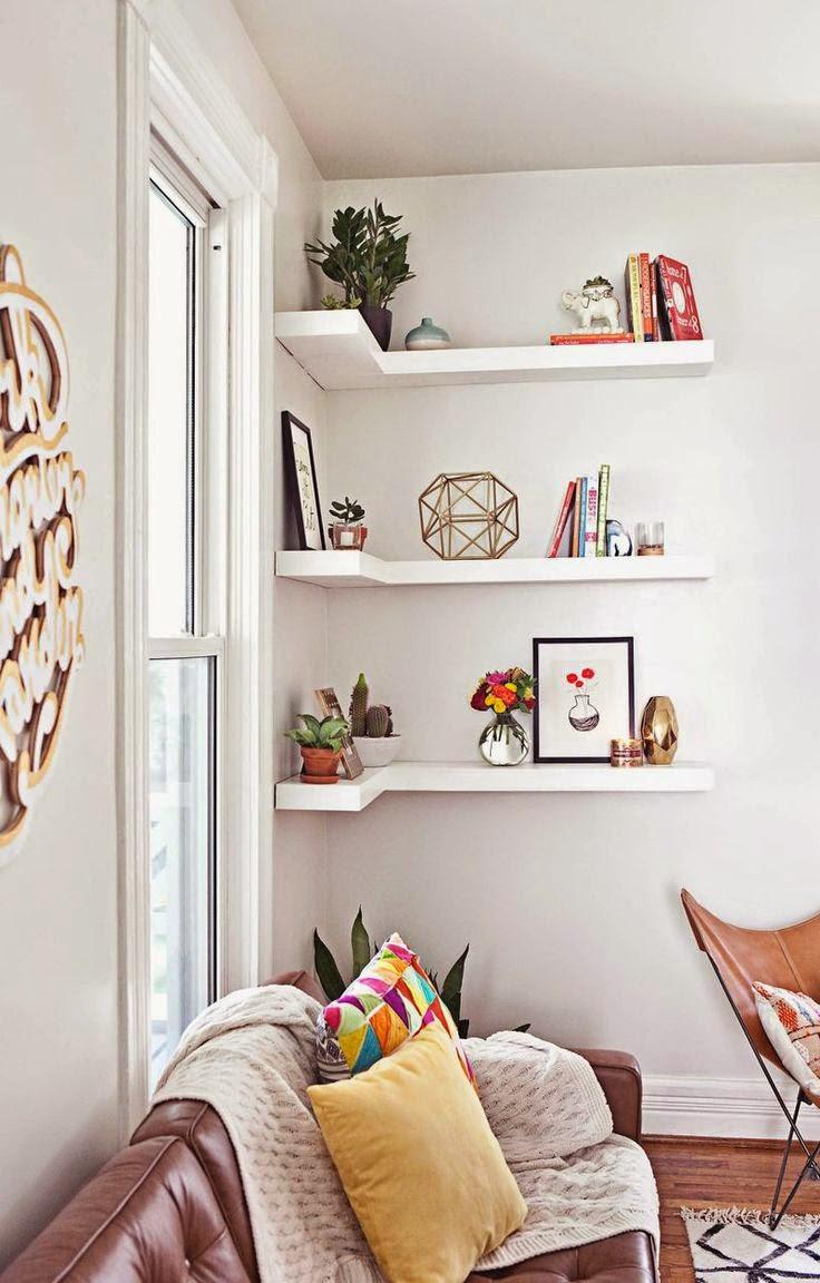 18 Estantes De Livros E Decora O Criativas Para Deixar A Casa Moderna ~ Como Decorar Um Quarto De Casal Pequeno Gastando Pouco