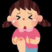 転んで泣いている女の子のイラスト