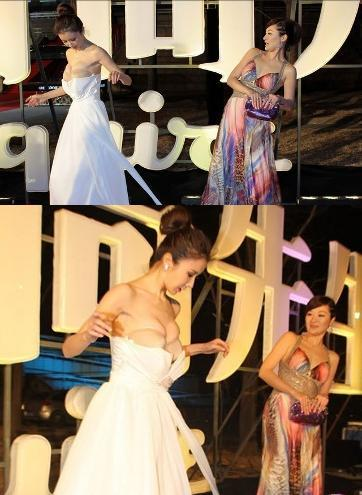 Sun Feifei Kumpulan Photo Sun Feifei, Aktris China Yang Gaunnya Melorot di Karpet Merah