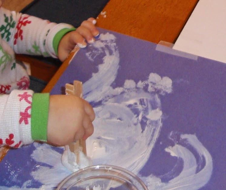 cloud painting eric carle home preschool