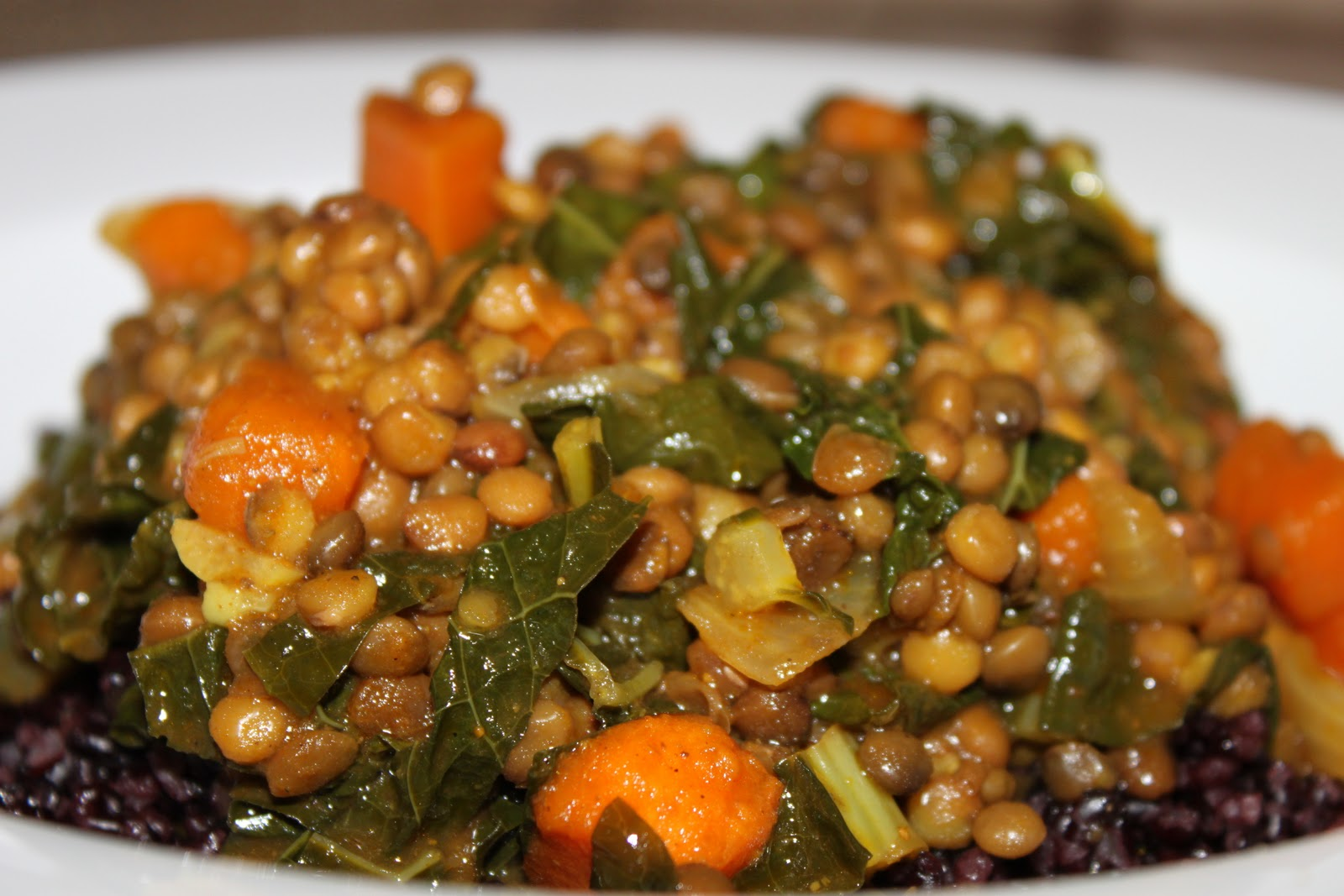 Domestic Divas Blog: Curried Lentils with Sweet Potatoes & Kale