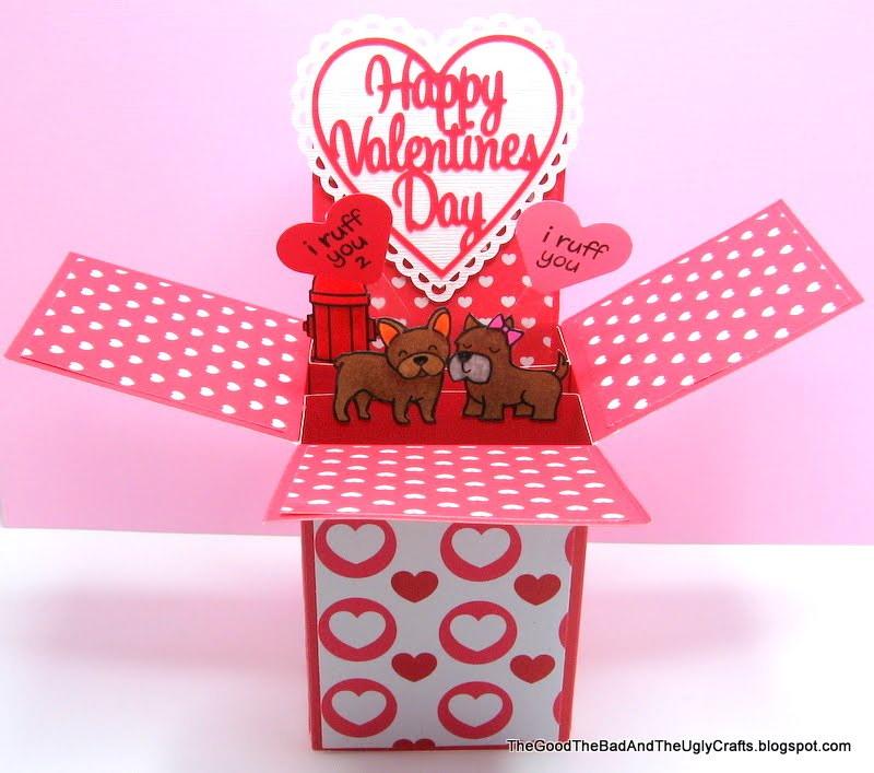 The Good The Bad The Ugly Crafts PopUp Box Valentines Day Card – Pop Up Valentines Day Card