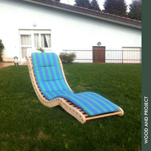 Wood and project creativita 39 e design una sceslong - Chaise longue da giardino ...